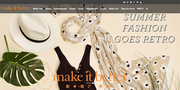 Summer Fashion Make It Better Home Page Banner