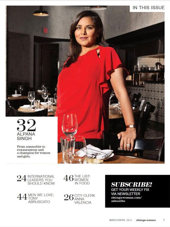 Alpana Singh Chicago Woman Cover
