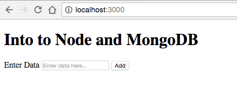 Saving Data to MongoDB Database from Node js Application
