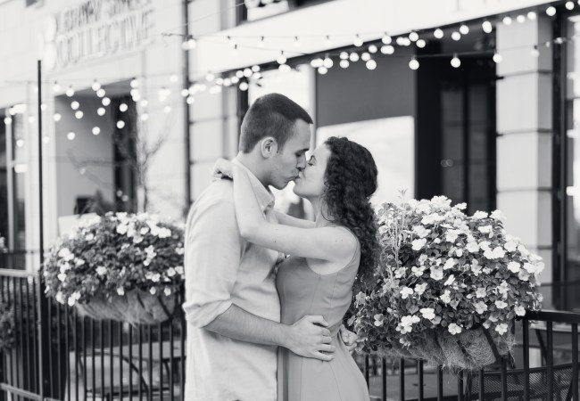 Classic Downtown Detroit Engagement Session | Laura & Curtis