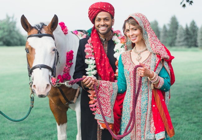 An Indian Wedding in The Knot!