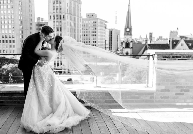 Old St. Mary's Wedding & Rooftop Reception at The Madison Theatre in Detroit| Isabelle & Andrew