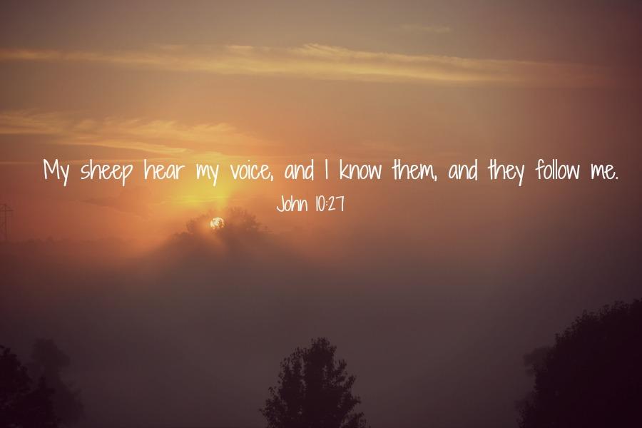 When He speaks…