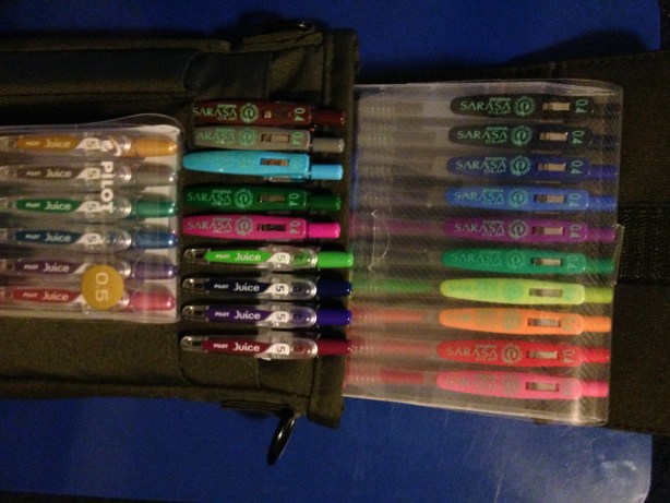 Pens in multiple colors and sizes