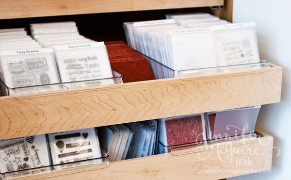 Clear And Cling Stamp Storage Update Jennifer McGuire Ink