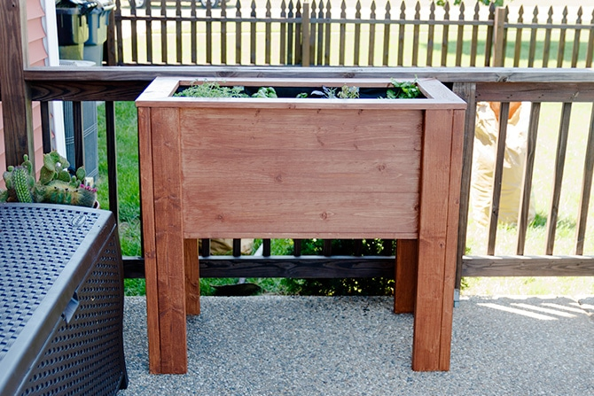 raised garden planter box jennifer