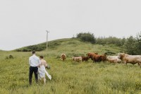 Rural Alberta backyard wedding