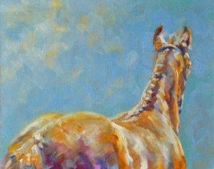 Foal painting, Jennifer Pratt