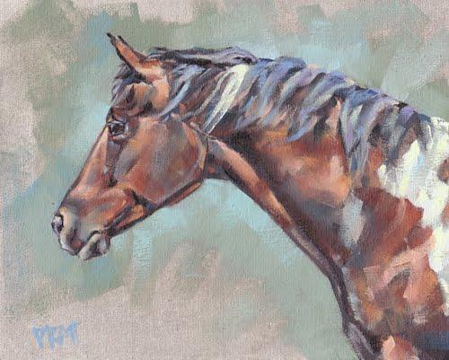 Horse painting, Jennifer Pratt
