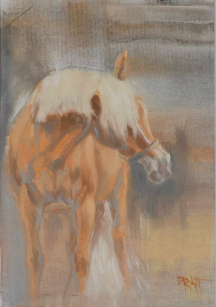 Haflinger, equine art, Jennifer Pratt, horse art