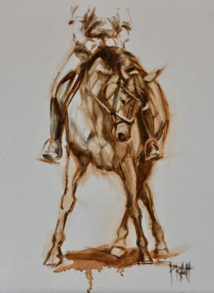 equine art, Jennifer pratt, horse art, oil painting, dressage,