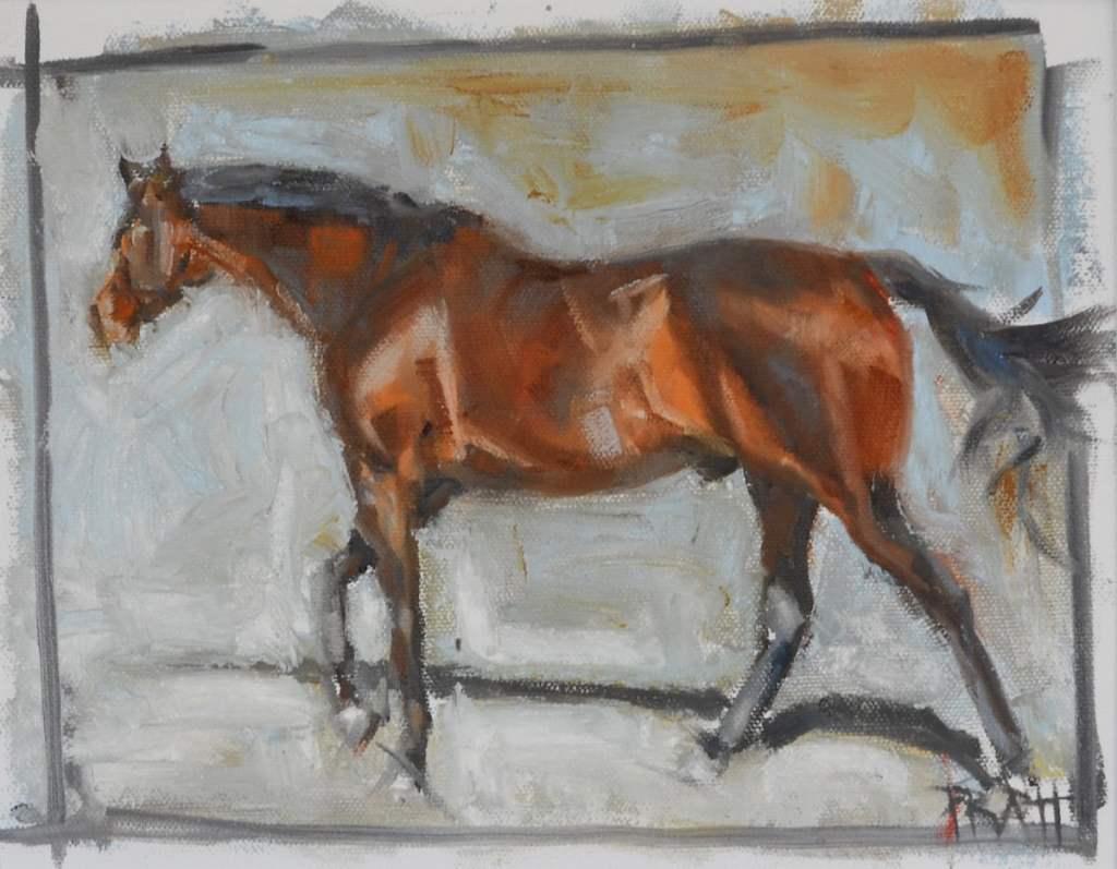 equine art-westporte-hunter-jenniferpratt-westbay