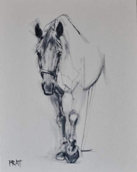 equine art, drafting, horse art, design, Jennifer Pratt