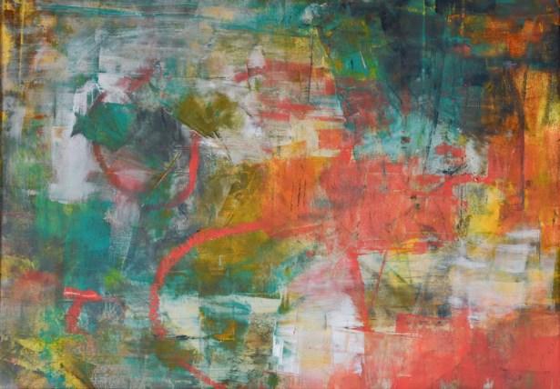 cold wax, abstract art