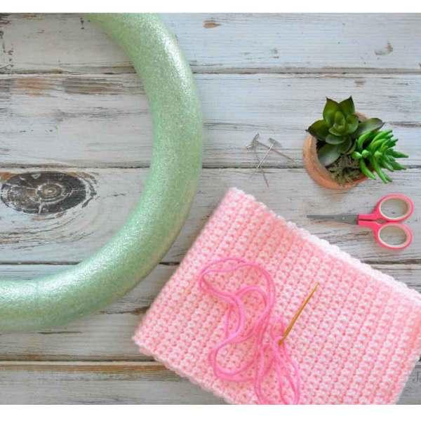 Crochet Wreath Cover
