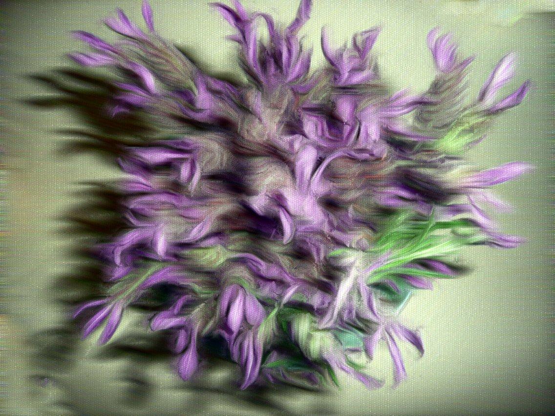 lavender oil paint