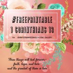 Free Printable Typography of 1 Corinthians 13