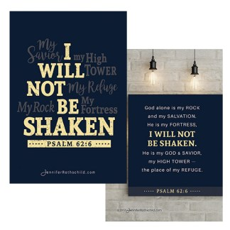Unshakeable Declaration Card