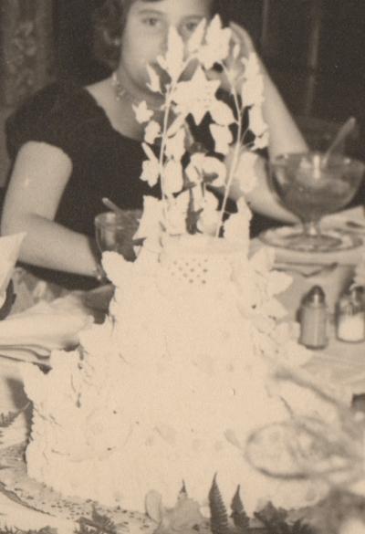 Bar mitzvah cake circa 1953