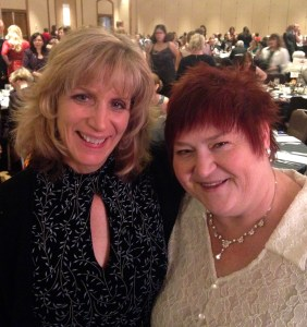 At the ACFW Gala Dinner with my Agent Karen Ball