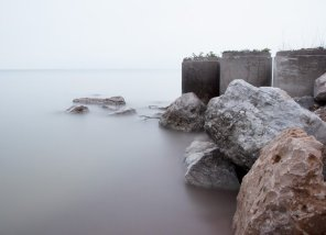 Lake Huron #1 - Rocky Beach Photograph