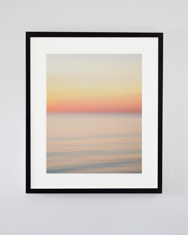 Pastel Orange Sunset Picture - Adrift and In Love - Abstract Photography