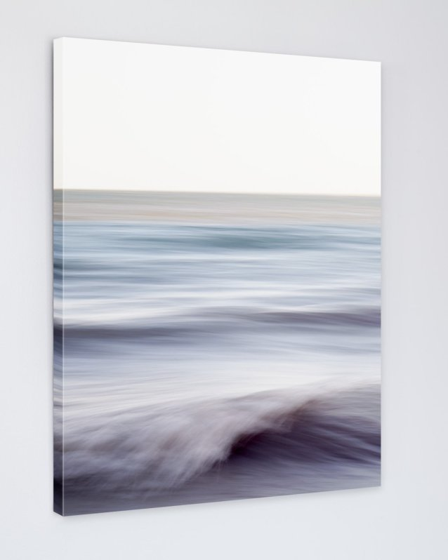 Ocean Wall Art Canvas - Chantal Strolls Along the Shore