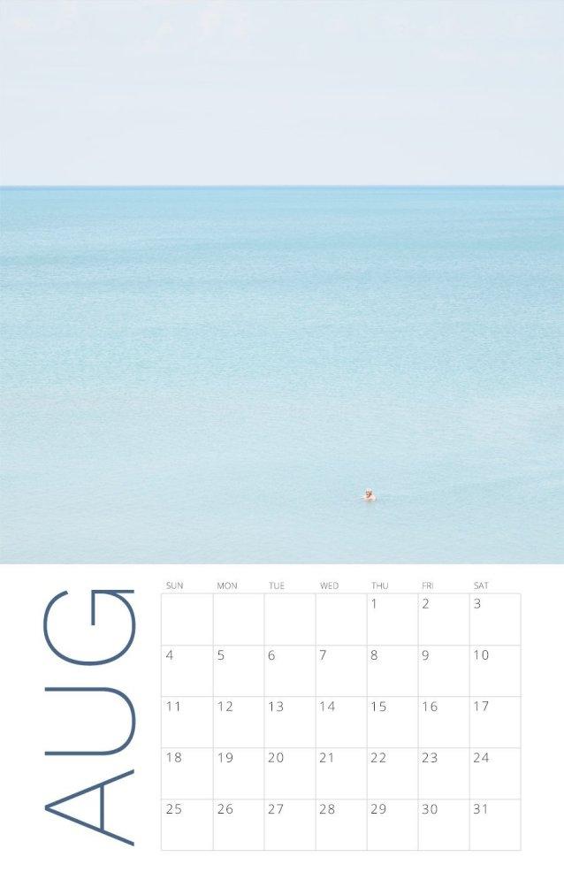 2019 Wall Calendar - Soothing Beach Photography