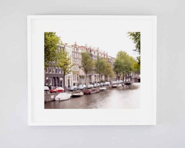 Prince's Canal Houses - Framed Amsterdam Canal Picture