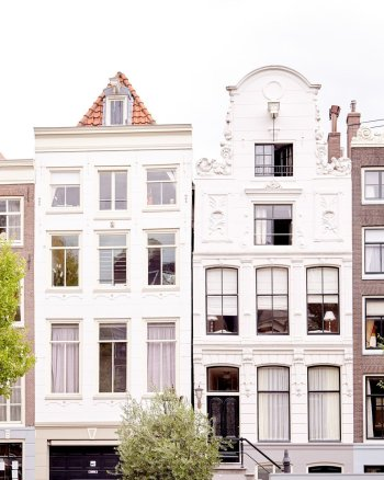 Flowers in Her Hair - Architectural Amsterdam Image Art Print