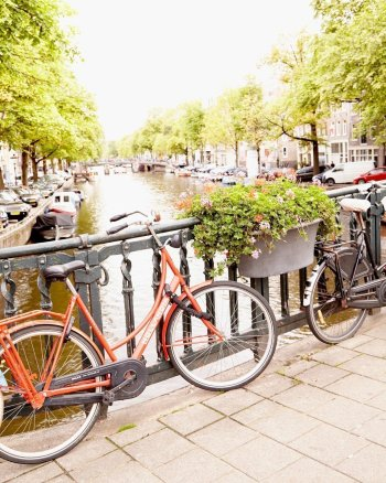 Brooke Bikes to Brunch - Amsterdam Photography Print