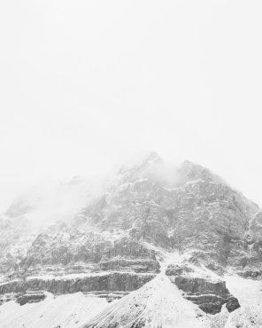 Veiled Peak, Vertical - Minimalist Mountain Print by Jennifer Squires
