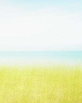Cleansing Breath, Vertical - Abstract Expressionist Beach Art Print