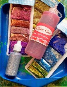 Glitter glue and glitter