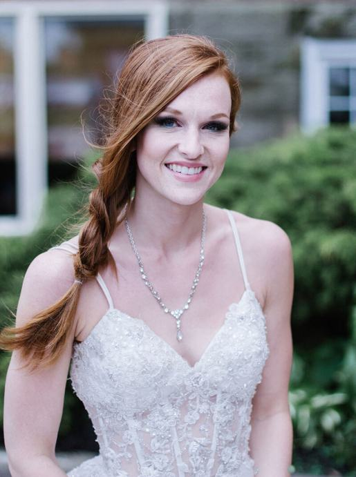 bridal hairstyle long braid