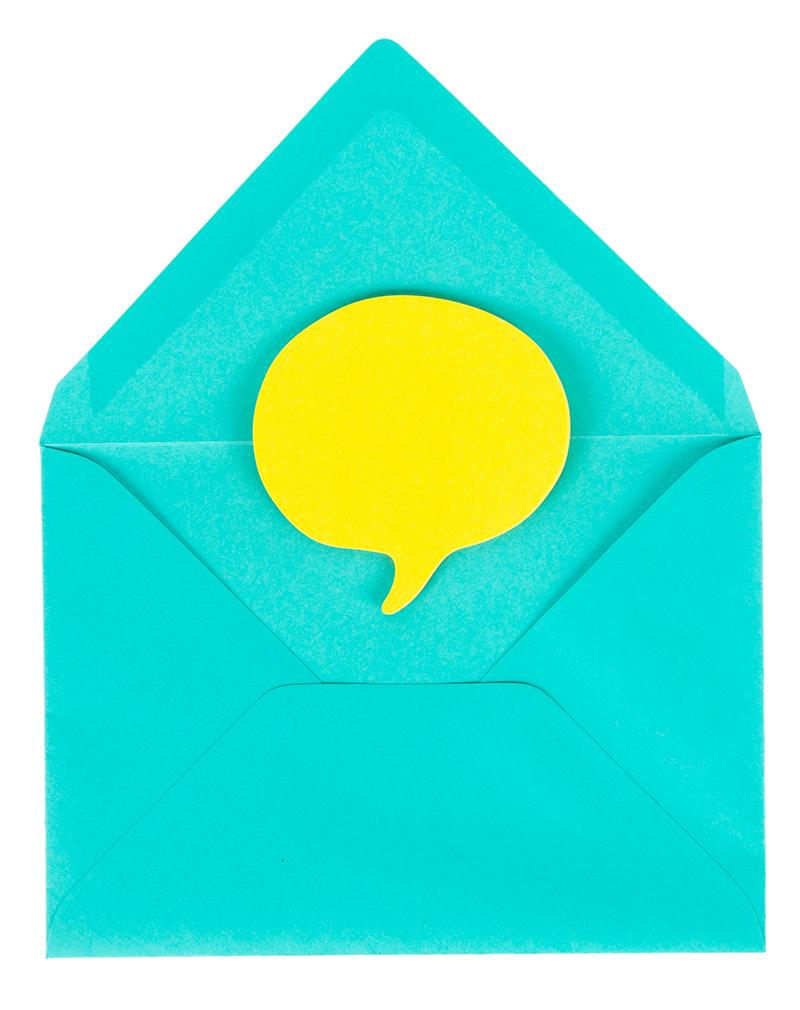 Blue envelope