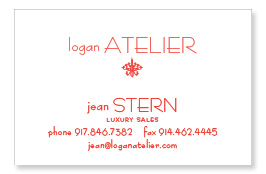 Logan Atelier business card