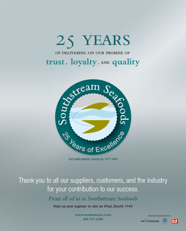 Southstream Seafoods print ad design