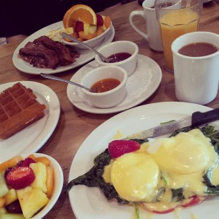 Brunch at More Than Waffles, one of our favorite places on Earth.