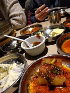 Korean food with Dan and Miriam -- yum!!