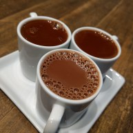 I finally made it to Cacao and tried the flight of drinking chocolates. DAMN.
