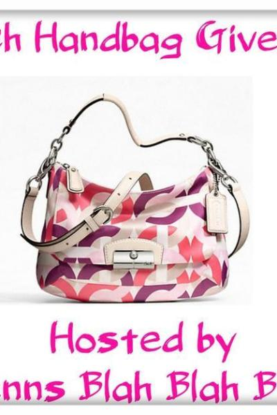 Coach Handbag Giveaway Sign Up's Are Open!