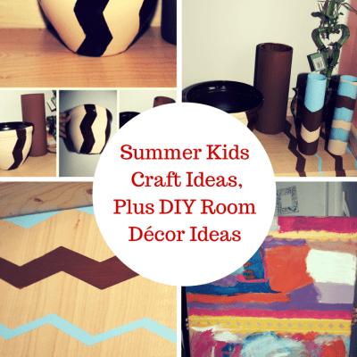 Summer Kids Craft Ideas, Plus DIY Room Décor Ideas #jbbb http://jennsblahblahblog.com