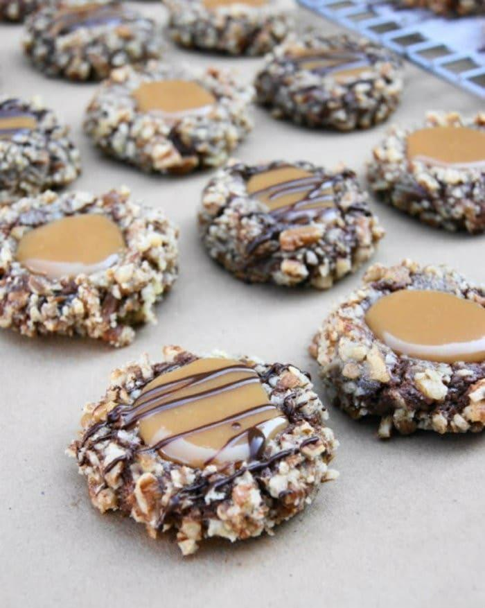 Insanely Delicious Turtle Cookies – Anything called Insanely ...