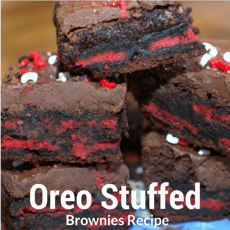 Dessert Recipes: Oreo Stuffed Brownie Recipe
