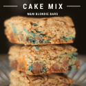 Caramel Cake Mix M&M Blondie Bars