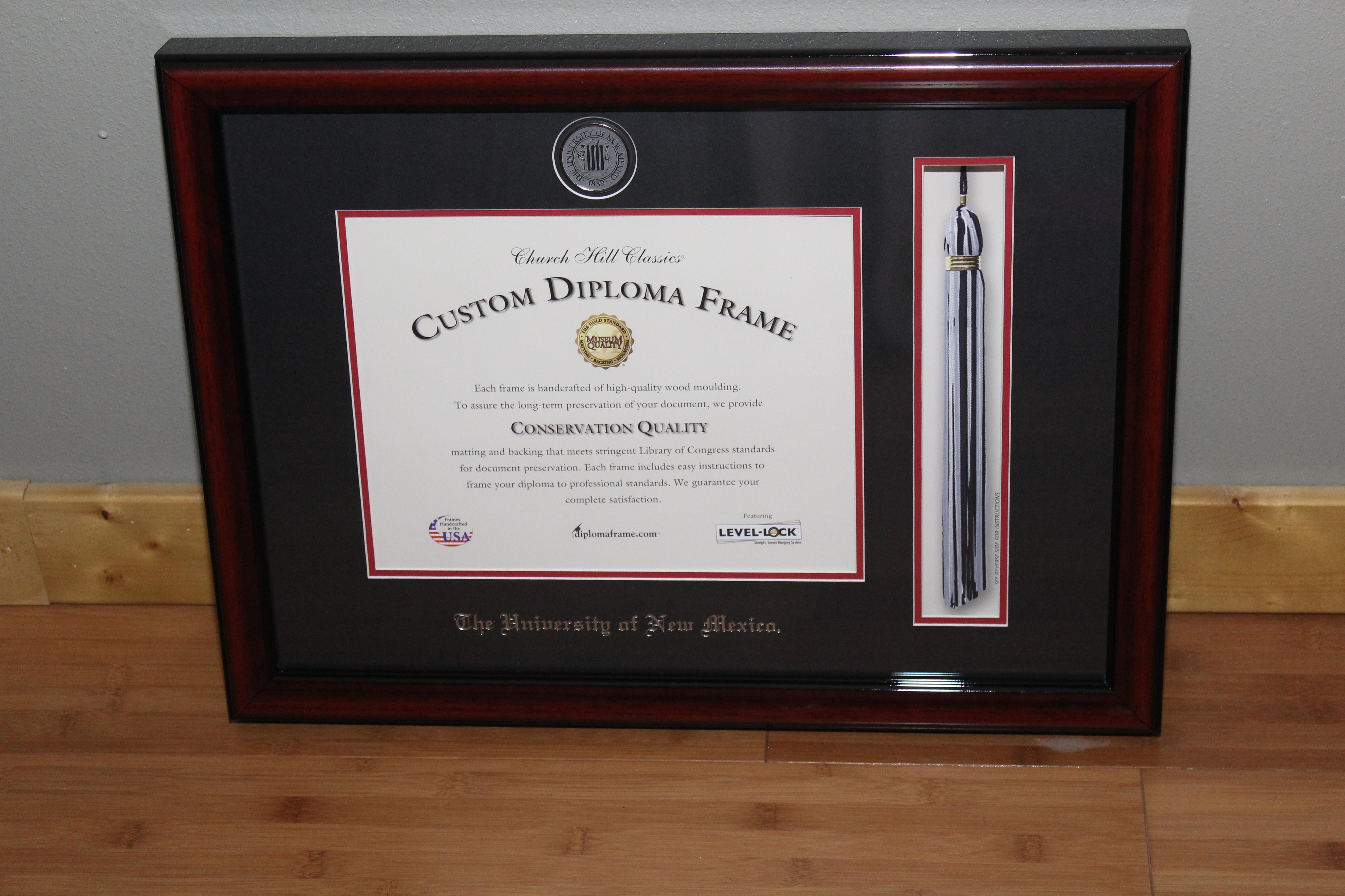 custom diploma frames by church hill classics
