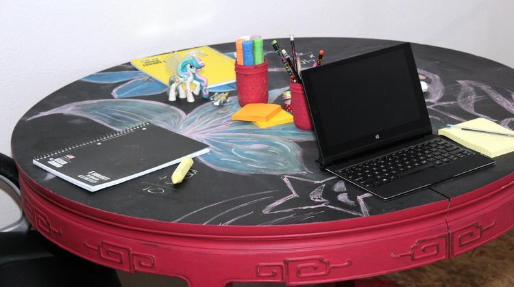 fun kids homework table