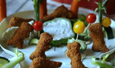 Veggie Island Dinosaur Chicken Nuggets & Vegosauras Ranch Dip Recipe