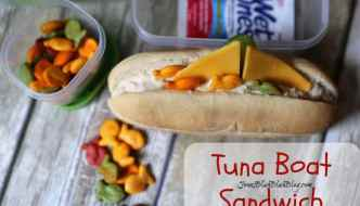 Easy & Fun Back To School Lunch Idea – Tuna Boat Sandwich